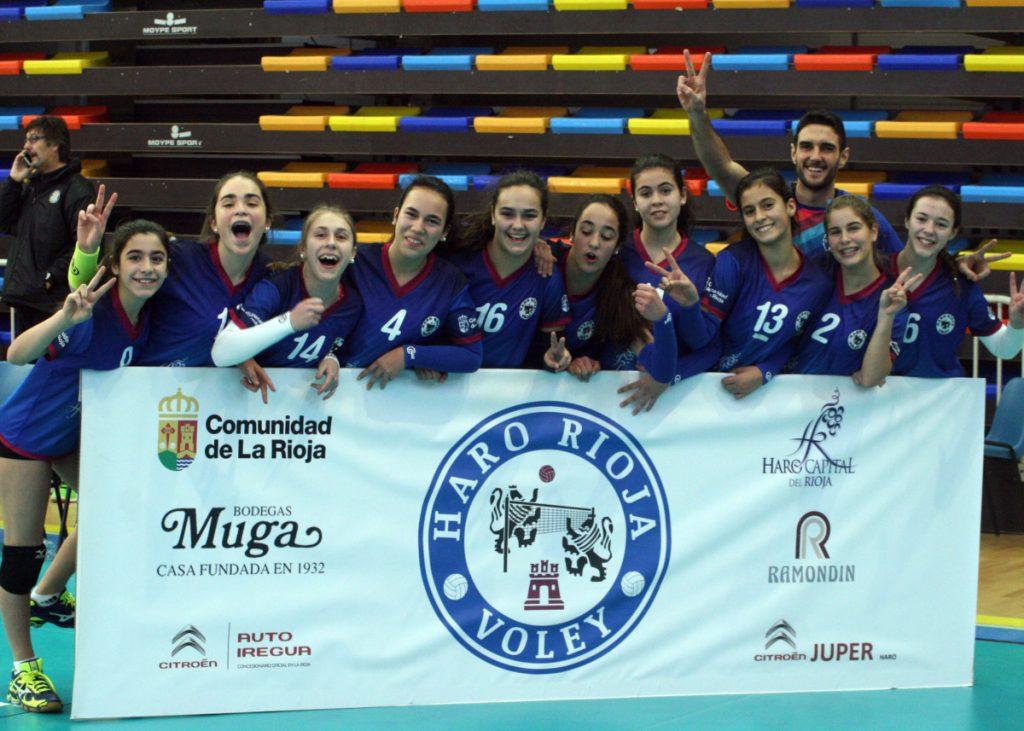 Éxito de la cantera del Haro Rioja Voley en la Copa de España