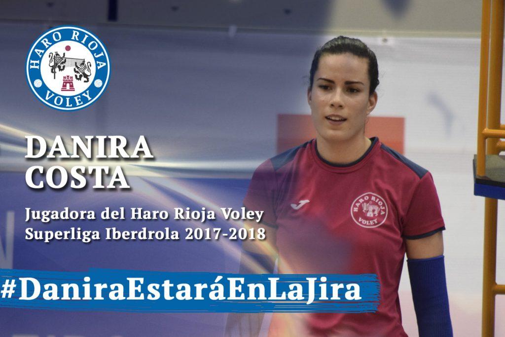 Danira Costa renueva su contrato con el Haro Rioja Voley
