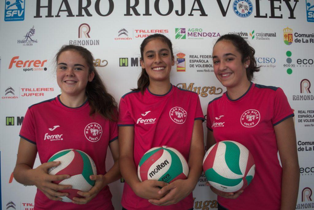 Tres canteranas en la pretemporada del equipo de Superliga