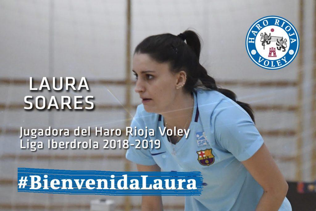 La central Laura Soares, nueva jugadora del Haro Rioja Voley
