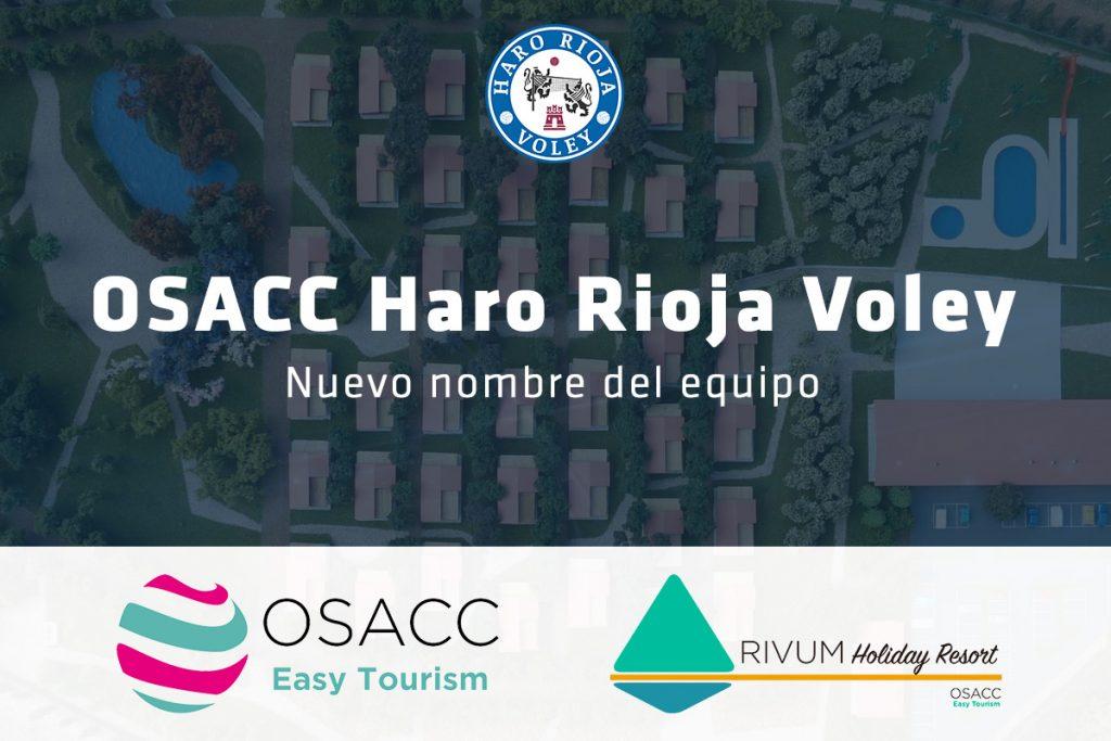 OSACC Easy Tourism, nuevo patrocinador principal del Haro Rioja Voley